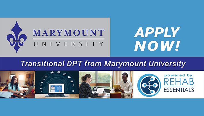 Transitional DPT from Marymount University - Apply Now!