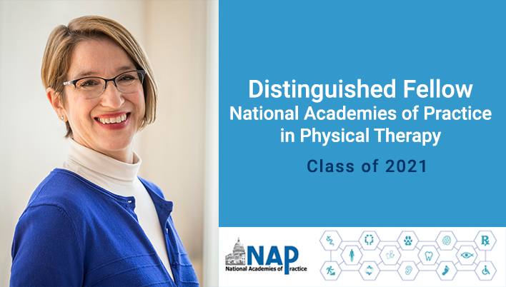 Jennifer Gamboa, PT, DPT, OCS as a Distinguished Scholar & Fellow of NAP in Physical Therapy