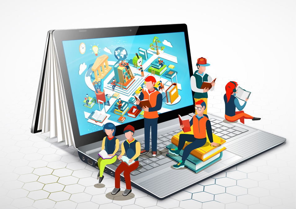 Illustration of an online learning community
