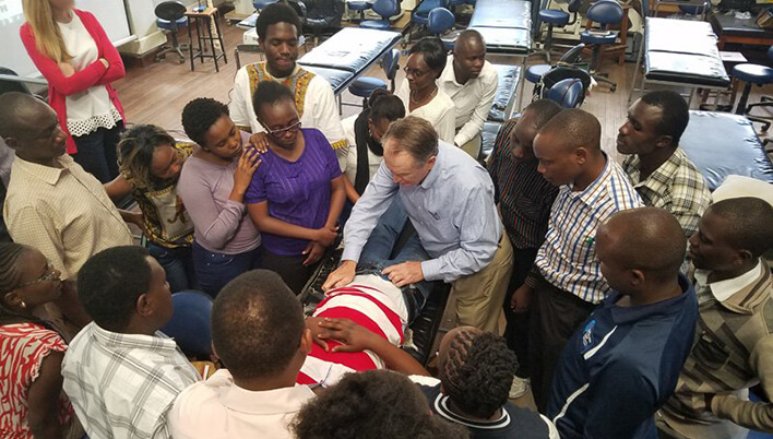 The Jackson Clinics Foundation teaching PTs in Kenya.